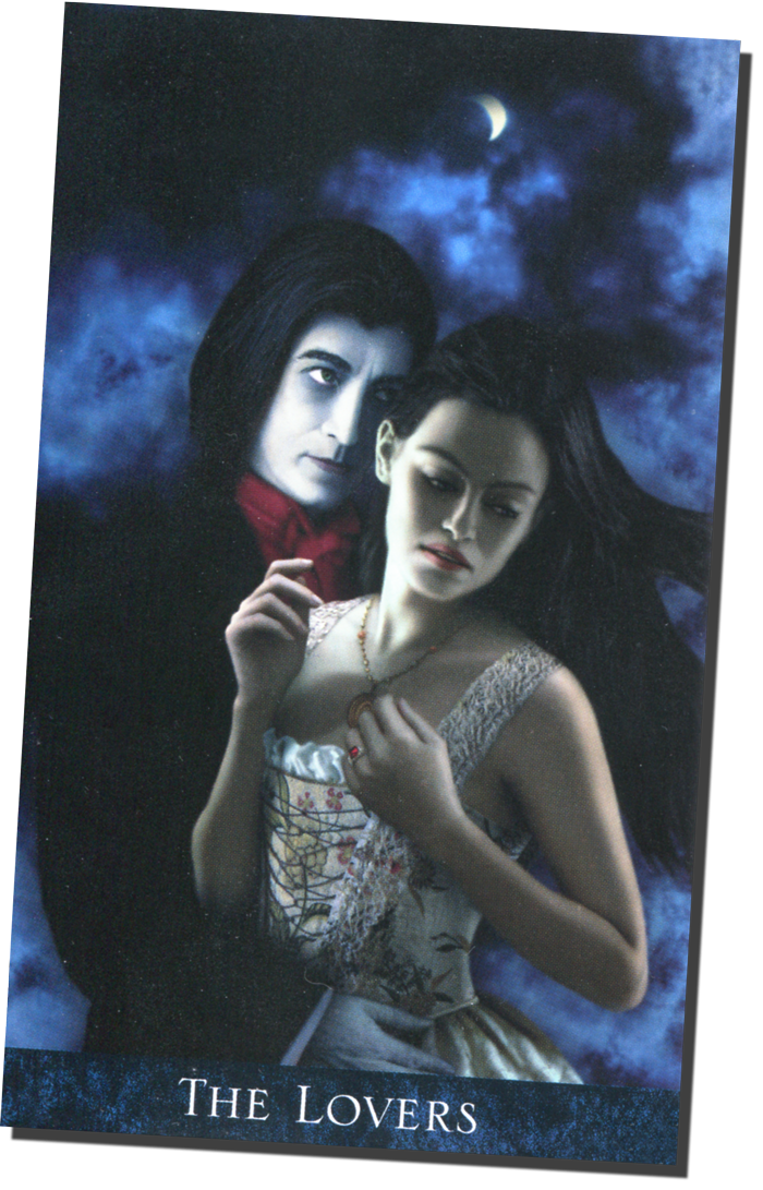 "The Bohemian Gothic Tarot ""The Lovers"" Card"