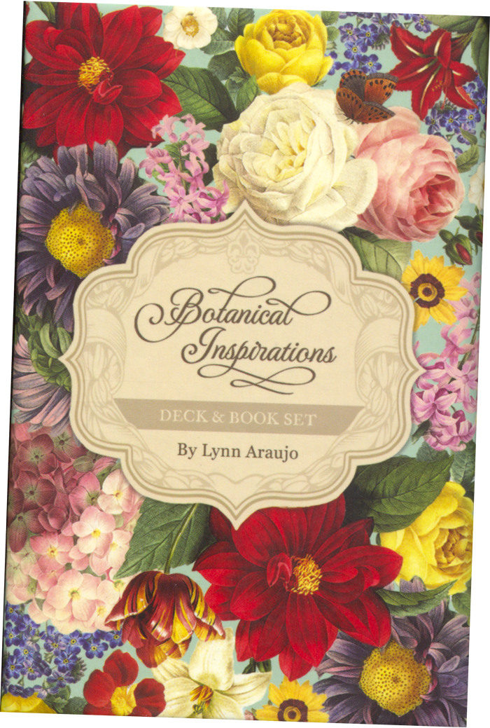 The box for the Botanical Inspirations Tarot Deck by Lynn Araujo