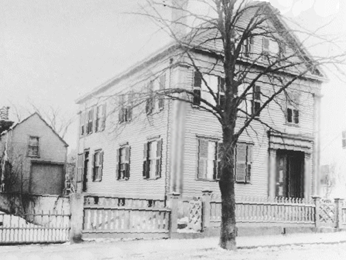 The Lizzie Borden House as it stood in the late 19th Century