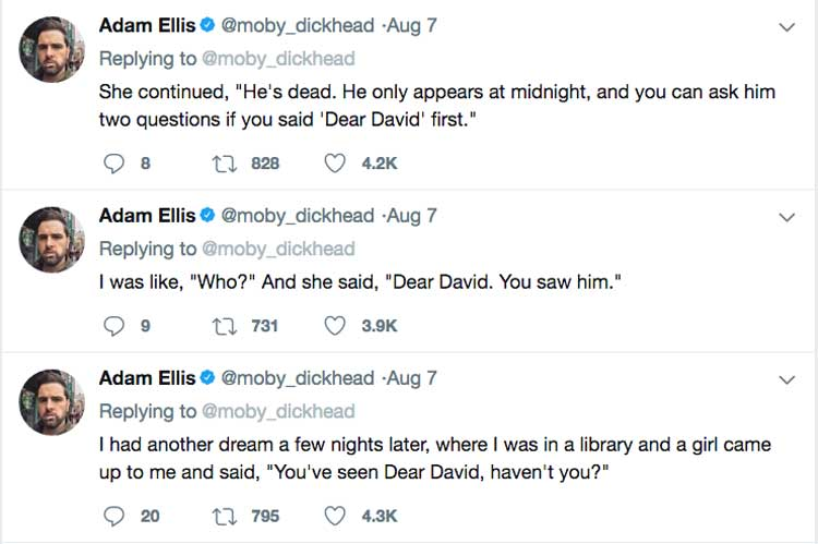 Three Adam Ellis tweets detailed in hte text below