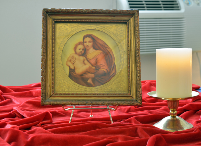 Spirit has messages for those of us who live on this planet. photo is a smaller Madonna and Child in Karen's office