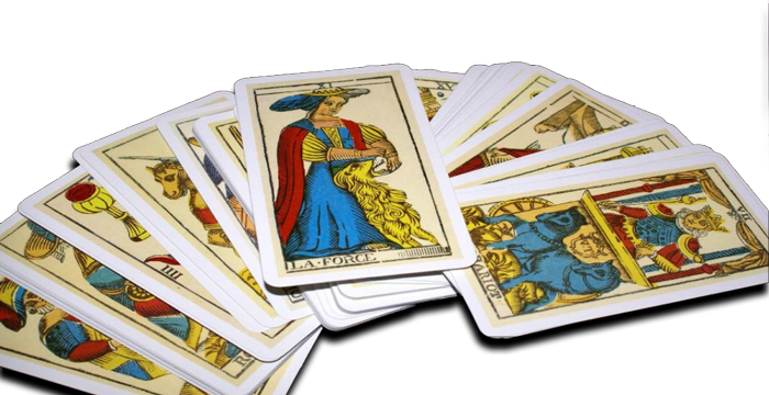 Tarot cards from Om Times article