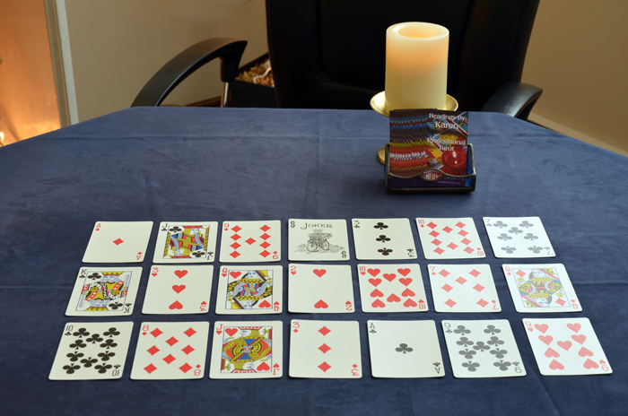 Karen often uses a regular deck of playing cards in a reading