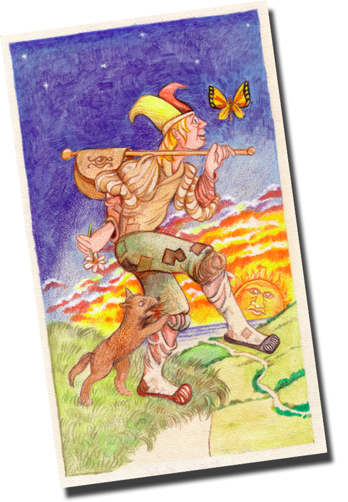 The Fool card from he Major Arcana or the Trumps